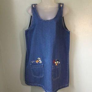 Vintage 90's Disney Mickey Unlimited denim jumper